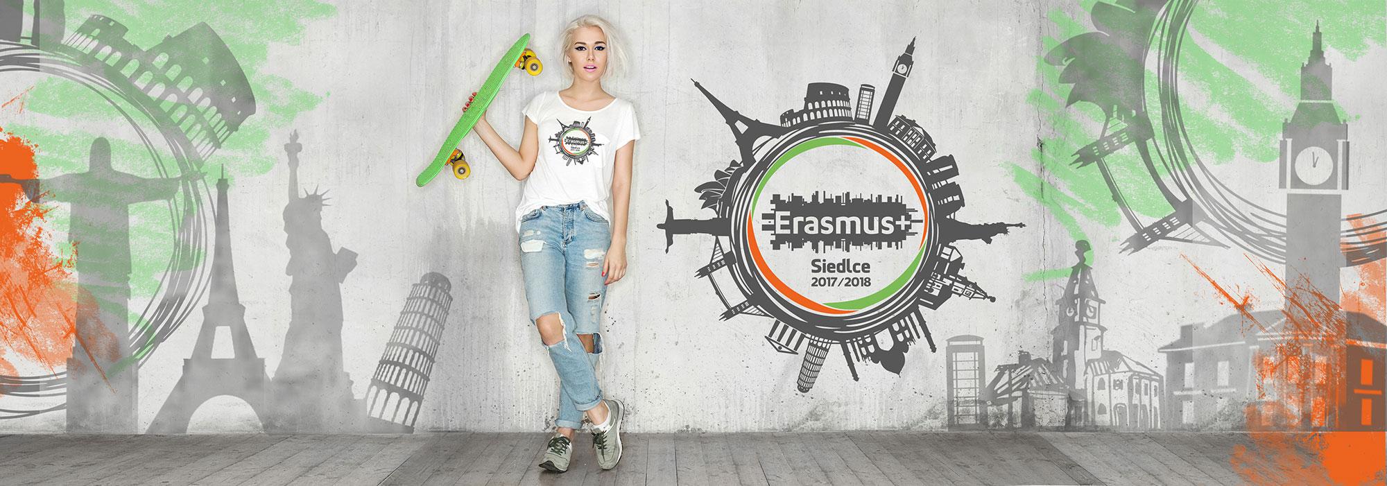 Erasmus - tshirty dla UPH w Siedlcach